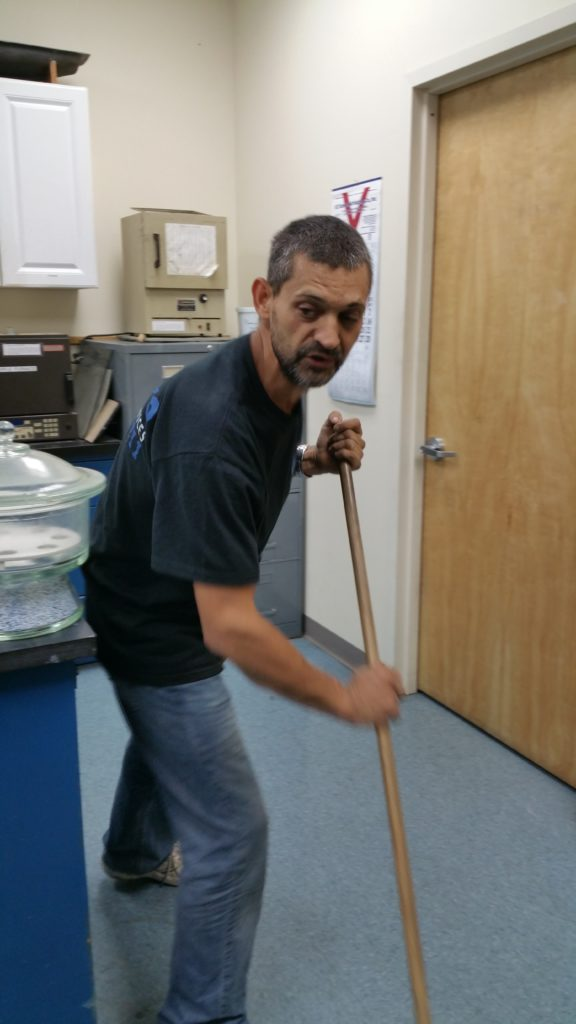 Cleaning Services at work